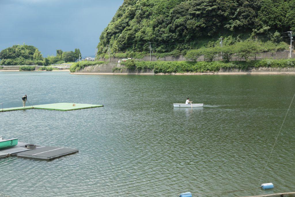 広大な池では白鳥ボートや手漕ぎボートも体験できます。